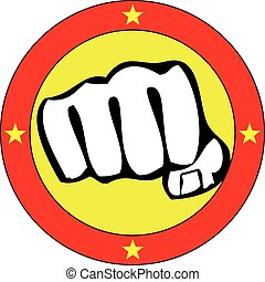 karate logo power fist  - power fist MMA, KARATE, BOXING