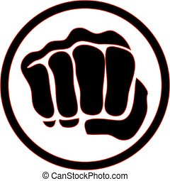 logo martial arts power fist - power fist MMA, KARATE,...