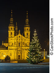 Fulda Cathedral, Germany - Fulda Cathedral in evening with...