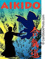 aikido BJJ jiu jitsu mma poster