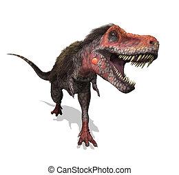 Tarbosaurus Running - A Tarbosaurus dinosaur running - 3D...