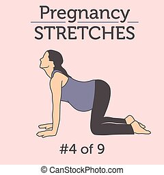 Young Pregnant Lady Stretching