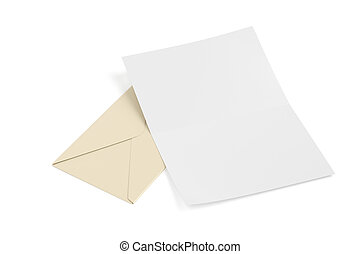 Envelope and blank paper