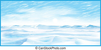 northern blizzard - Stylized illustration on the theme of...