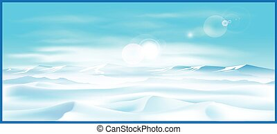 northern landscap - Stylized vector illustration on the...