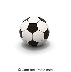 soccer ball on  background 3d image
