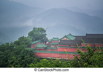Wudangshan are daoist mountains in Hubei province, China