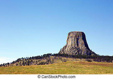 Devils Tower National Monument located in Wyoming, USA