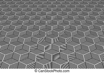 Op art geometric background