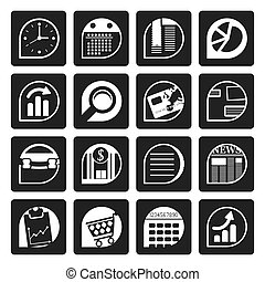 Business and Office Internet Icons - Black Business and...