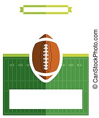 American Football Game Flyer Illustration - A template flyer...