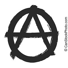 grunge anarchy symbol, vector design element