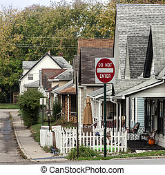 Indianapolis - Picture shows houses in Indianapolis