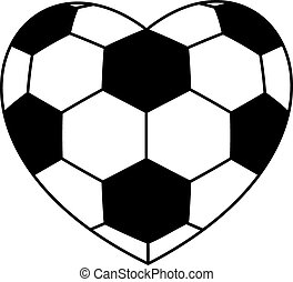 soccer ball heart isolated on white background. vector...