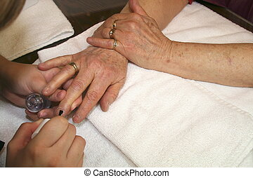 Manicure for Senior  - Time for a manicure.