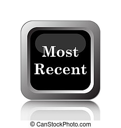 Most recent icon Internet button on white background