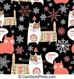 Beautiful Russian cat pattern - Beautiful Russian cat Happy...
