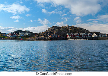 Norwegian village on Lofoten islands