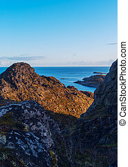 Top of mountain on the island Skrova on the Lofoten