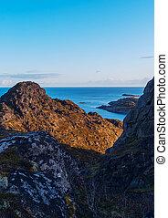 Top of mountain on the island Skrova on the Lofoten