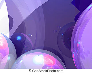 Bubbly graphics - Decorative background from spherical forms...