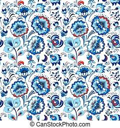Floral seamless pattern in country style - Vector floral...