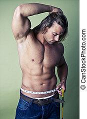 muscular, hombre