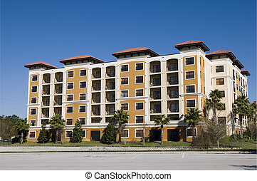 Empty Condos - Empty Six story Florida Condominiums...