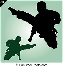 Karate fighters collection