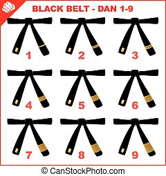 Black belts belts karate dan