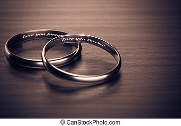 Love you forever - Some focus on love forever ring 3d...