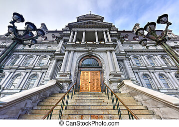Montreal City Hall - Main Building of the City Hall in Old...
