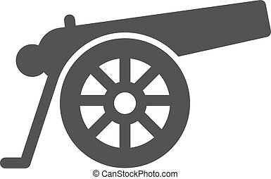 Cannon - Canon, war, weapon icon vector image. Can also be...