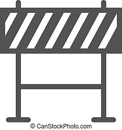Barricade, warning, barrier icon vector image Can also be...