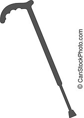 Walking Stick - Stick, walking, old icon vector image Can...