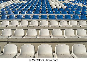 Empty bleachers - Stadium seats