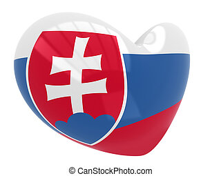 Heart shaped icon with flag of Slov
