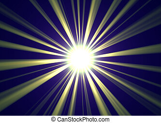 Sun Rays Background - Golden centered sun ray burst for...