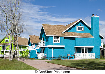 Abandon Condos - Brightly colored Abandon condominiums due...