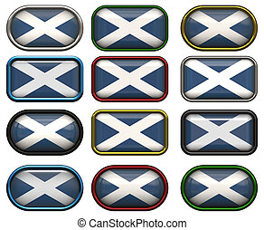 12 buttons of the Flag of Scotland