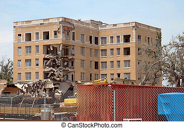 Hurricane Katrina - Five story commercial building destroyed...