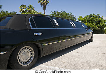 Black Stretch Limo - Black Stretch limousine waiting for...