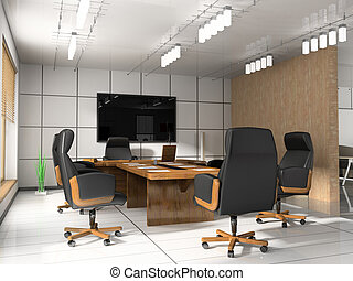 Modern room for meetings 3d render