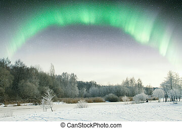 Northern Lights Elements of this image furnished by NASA