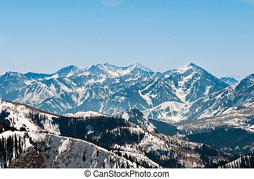 Snowbird 13 - Soft Snow Capped Ridges beginning after Hidden...