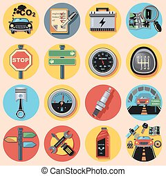 car parts and icons.eps