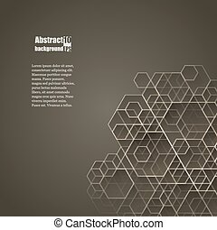 Graphic illustration. - New Year background with geometric...