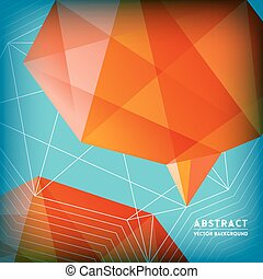 Abstract Low Polygonal Brain Shape Background - Abstract Low...