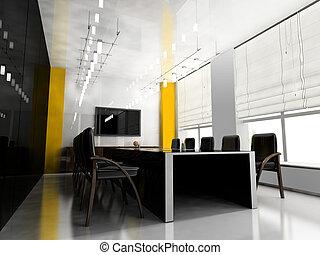 Modern room for meetings 3d render