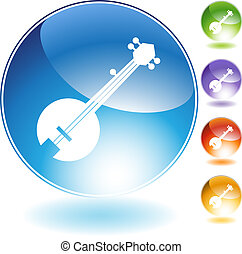 Banjo Instrument - Banjo music instrument isolated on a...